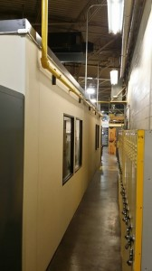 A-Wall 200 modular in-plant office.  Still in great shape after one reconfiguration and 6+ years of use.