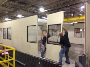 Relocating the modular office panels