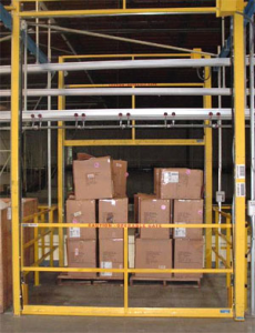 Dual Interlocked Vertical Mezzanine Safety Gate