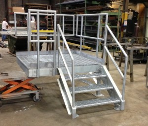 assembled metal stairs for construction trailer