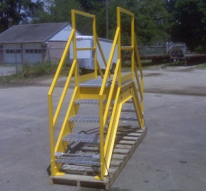 paint galvanized metal stair crossover