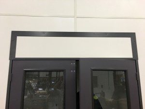 Removable panel on a modular building