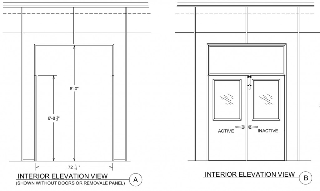 removable panel drawing