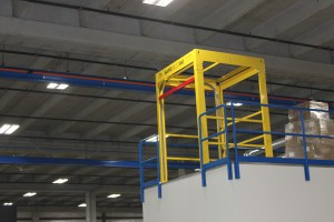 Open mezzanine safety gate