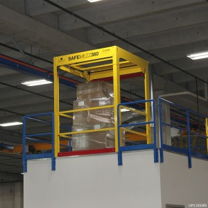 closed SafeMezz360 mezzanine safety gate
