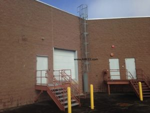 Completed installation of fixed ladder