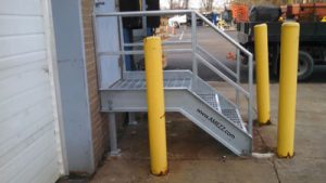 A-Mezz galvanized steel replacement dock stairs