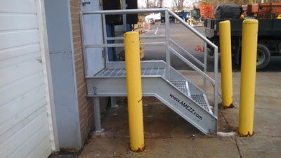 A Mezz Galvanized Steel Replacement Dock Stairs