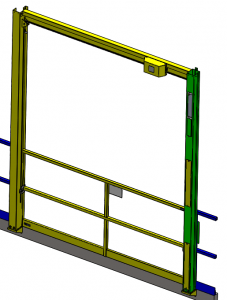 vertical electric face mounted mezzanine gate model