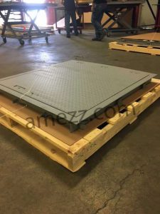 Photo of closed floor door ready for packaging