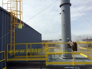 Our installed roof stack ladder and catwalk provides safe access under customer's budget