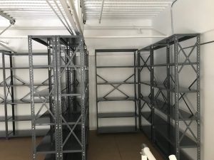 shelving on storage platform