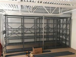 security cage on top of storage platform