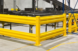 use industrial guardrail to protect your equipment  and personnel in areas with fork traffic
