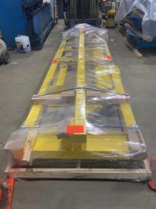 Photo of flat packed inspection platform