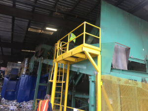 Photo of inspection platform installed with ladder