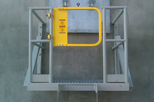 photo of exterior ladder safety gate