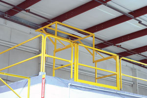 photo of closed Mezz-200 Pivoting Mezzanine Safety Gate