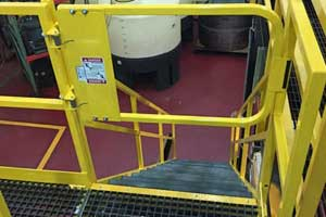 photo of MLG Ladder Safety Gate in use