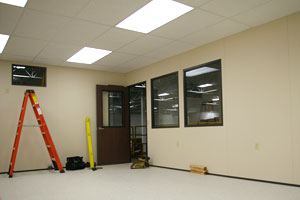 photo of inside A-Wall modular building
