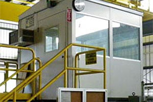 photo of prefabricated control room