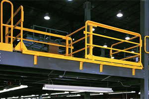 Double Drop Horizontal Sliding Mezzanine Safety Gate