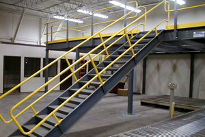 Photo Of Metal Stairs W Handrails Photo Of Metal Staircase ...
