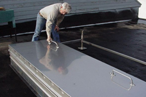photo of a sliding roof hatch