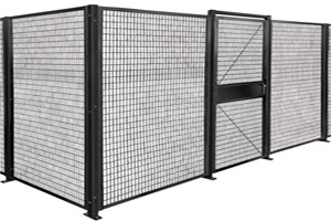 photo of wire machine fencing with lockable door