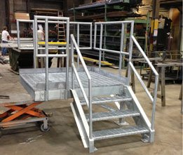 Galvanized Construction Trailer Stair Ready To Ship