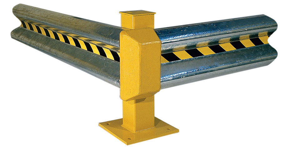 Steel bollards guardrails horizontal safety guards