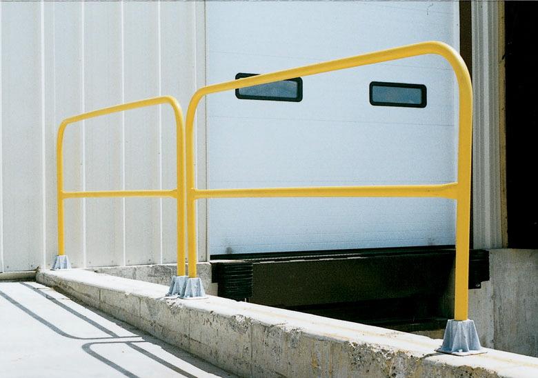 Steel bollards guardrails horizontal safety guards