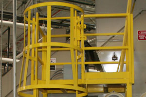 photo of fixed ladder detail