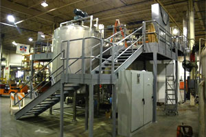 photo of process equipment mezzanine system
