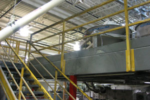 photo of product hoppers on mezzanine