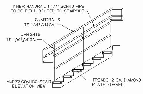 Beautiful IBC   International Building Code. IBC Stair Elevation Drawing