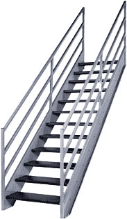 Fixed Metal Stairs