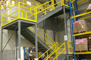 photo of metal stair tower