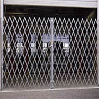 photo of folding security gate
