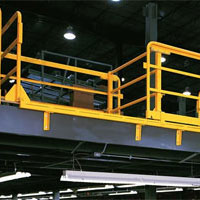 photo of double drop horizontal sliding mezzanine safety gate