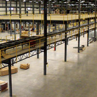 photo of warehouse distribution mezzanine floor system
