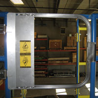 photo of a ladder safety gate