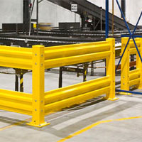 photo of safety guard rails to protect equipment
